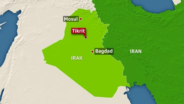 Karte von Irak
