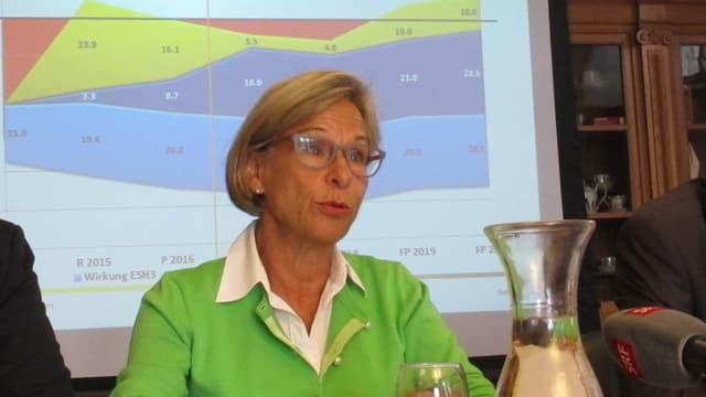 Die Schaffhauser Finanzdirektorin Rosmarie Widmer Gysel.