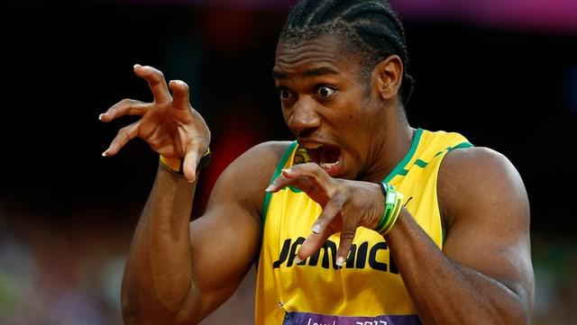 Yohan Blake wird seine Krallen an der WM über 200 m nicht ausfahren können.