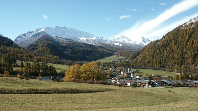 Vista da Sta. Maria en la Val Müstair.