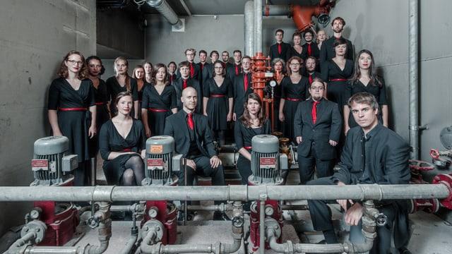 Der Chor im Bunker.