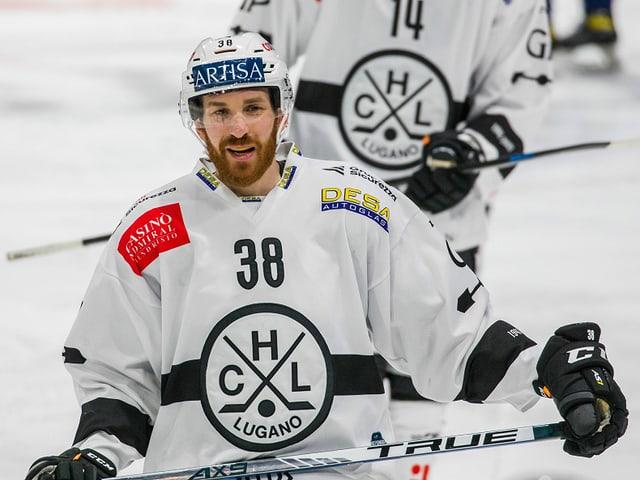 Raffaele Sannitz im Dress des HC Lugano