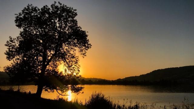 Sonnenuntergang am Ägerisee