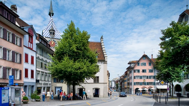 Heute gilt auf der Grabenstrasse durch die Zuger Altstadt Tempo 50.