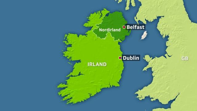 Karte Irland und Nordirland