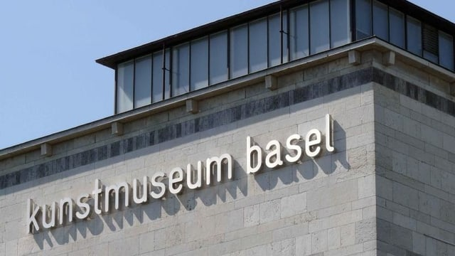 Blick auf die Aussenfassade des Basler Kunstmuseums