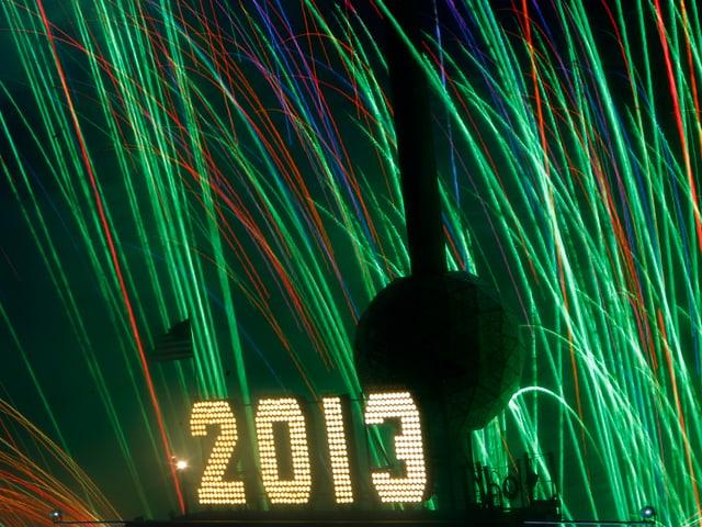 Der «Ball Drop» auf New Yorks Times Square: Das Herablassen der Kugel markiert seit 1904 den Beginn des neuen Jahres.