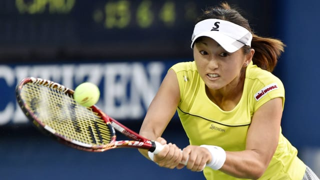 Misaki Doi im Erstrunden-Spiel gegen Daniela Hantuchova.