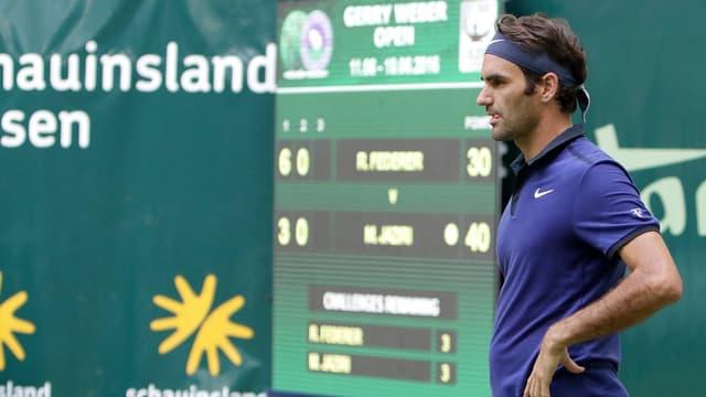 Roger Federer in Halle.