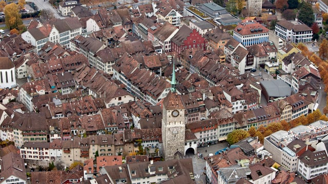 La citad istorica dad Aarau.