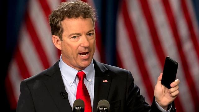 Rand Paul als Redner bei der Bekanntgabe seiner Kandidatur.