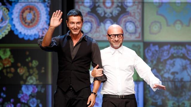 Domenico Dolce (r) und sein Designpartner Stefano Gabbana
