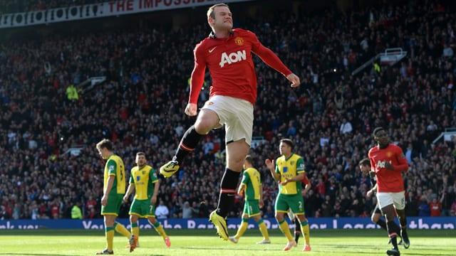 Wayne Rooney traf gegen Norwich doppelt.