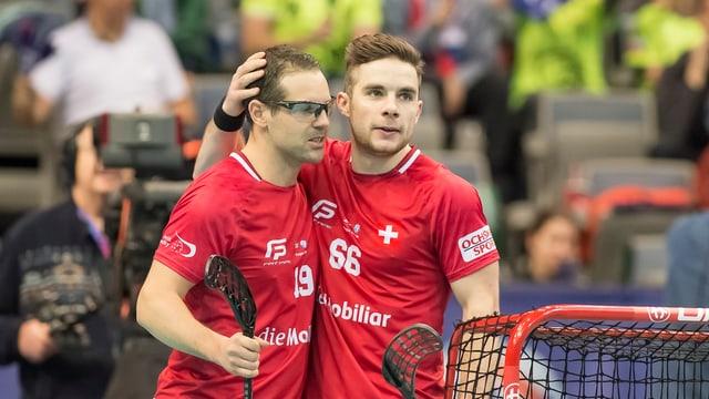 Matthias Hofbauer (sanester) und Tim Braillard giubileschan.
