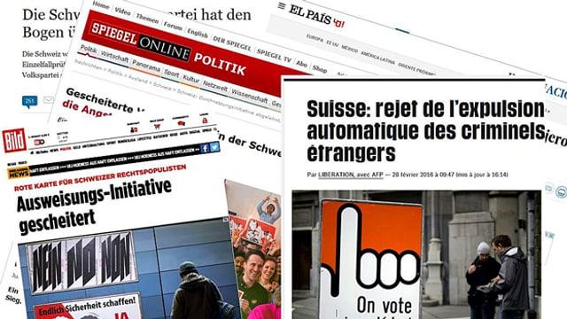 Auswahl an Online-Artikeln zur Durchsetzungsinitiative in europäischen Medien.