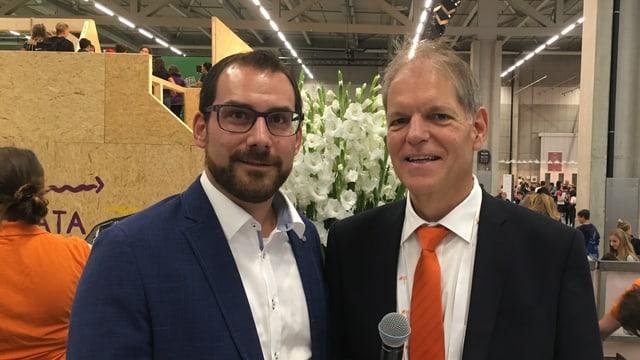 Ils dus collegas d'uffizi: Curdin Tuor (san.) e Theo Ninck.
