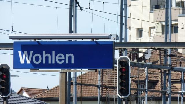 Bahnhof Wohlen.