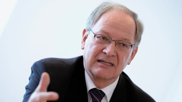 Porträt von Hans Wallimann, Finanzdirektor des Kantons Obwalden.