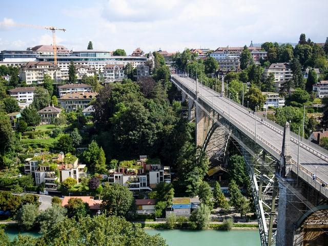 Blick auf die Berner Kornhausbrücke