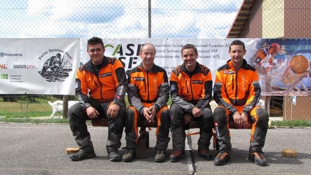 Il Swiss Team (da san.) Enrico Netzer, Philipp Amstutz, Balz Recher e Urs Amstutz.