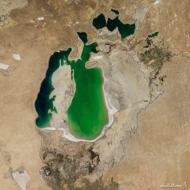 Satellitenaufnahmen der Nasa aus dem Jahr 2001