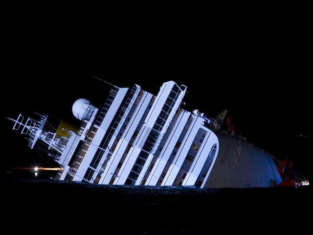 Die gesunkene Costa Concordia.