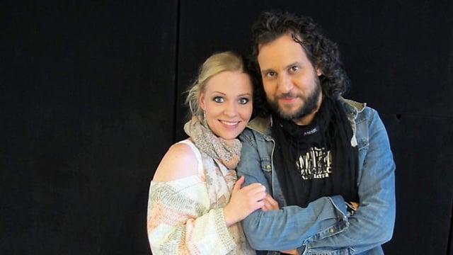 Kisha und Reto Burell beim Swissmade-Interview in den Studios von Radio SRF 1.
