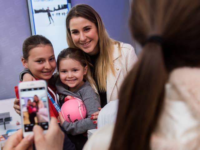 Belinda Bencic ist in Lugano nur Zuschauerin.