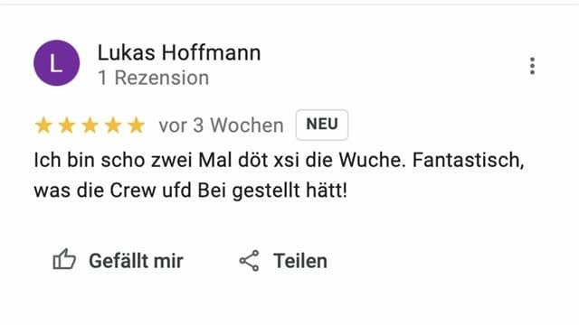 Screenshot einer gekauften Review