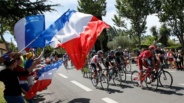 Auch heute wird an der Tour de France gefahren.