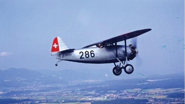 Flugzeug Dewoitine D.26 in der Luft