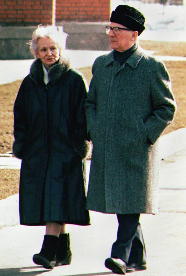 Magrot und Erich Honecker.
