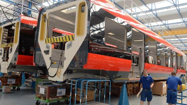 Montagehalle der Stadler Rail Group in Bussnang