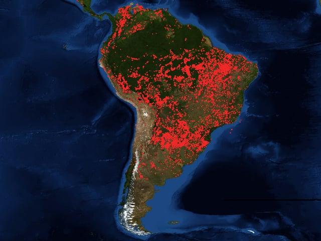 Südamerikanischer Kontinent