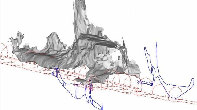 Ein Innenmodell des Felsen