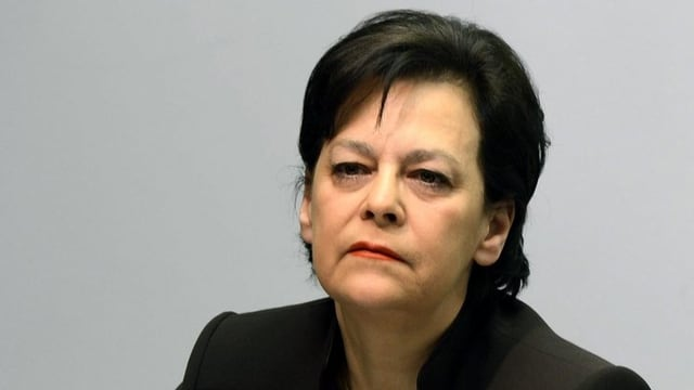 """Die Zürcher Finanzdirektorin Ursula Gut macht einen """"Lätsch"""""""