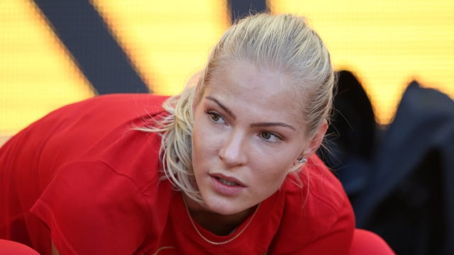 Die russische Weitspringerin Darja Klischina.