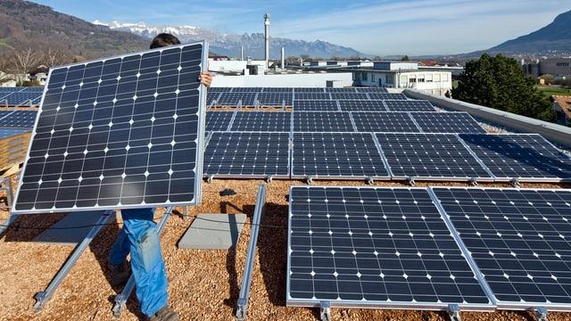 Solarpanels au Dach