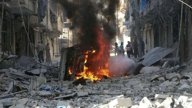 Attatgas militaras era sin miras civilas en Siria.