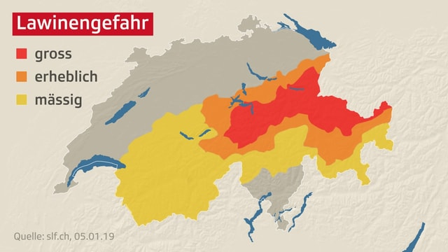 Eingefärbte Schweizer Karte