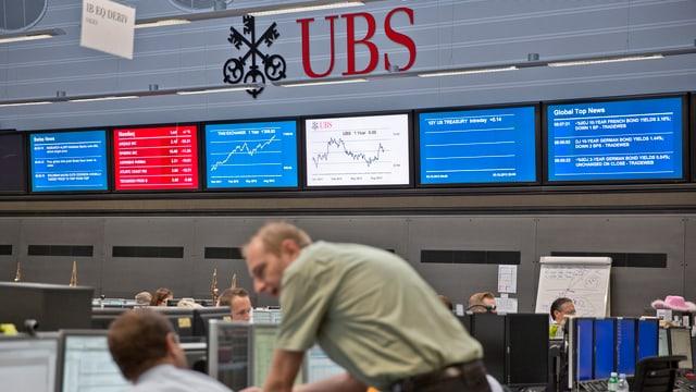 UBS-Angestellte in einem Handelsraum
