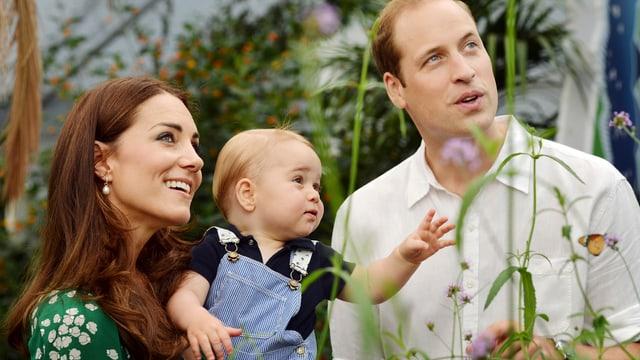 Herzogin Catherine, Prinz George und Prinz William
