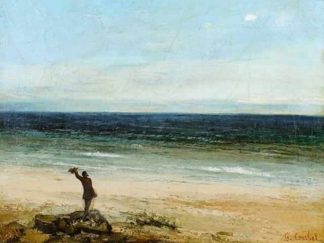 Ölgemälde, Mann am Meer