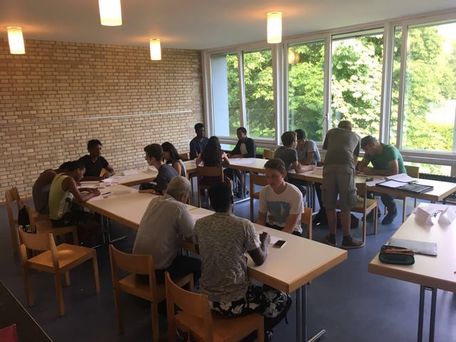 Gruppenarbeit in den Deutschkursen