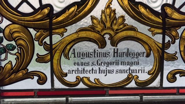 Augustinus Hardegger, architect da la claustra.