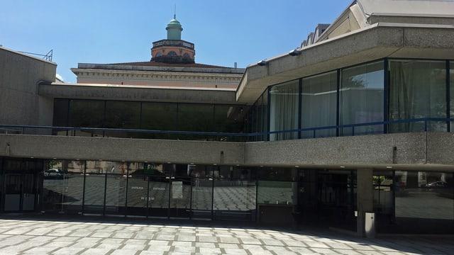 Das Konferenzgebäude in Lugano.