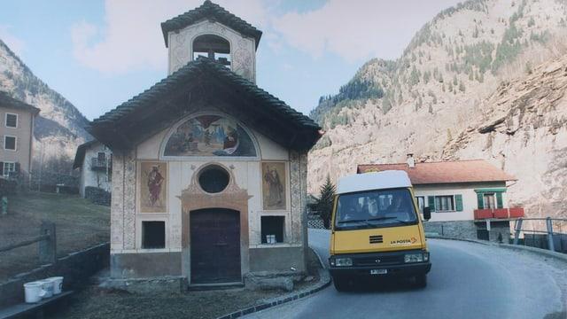 La posta mobila sin viadi tras la Val Calanca.