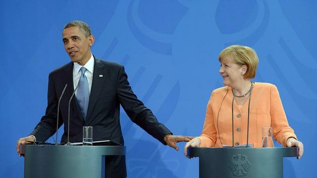 Merkel stiehlt Obama die Show