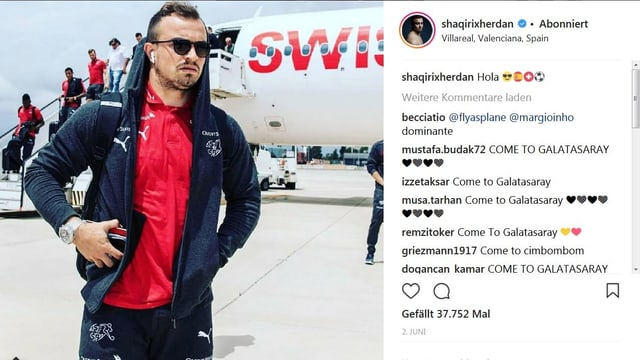 Xherdan Shaqiri auf Instagram