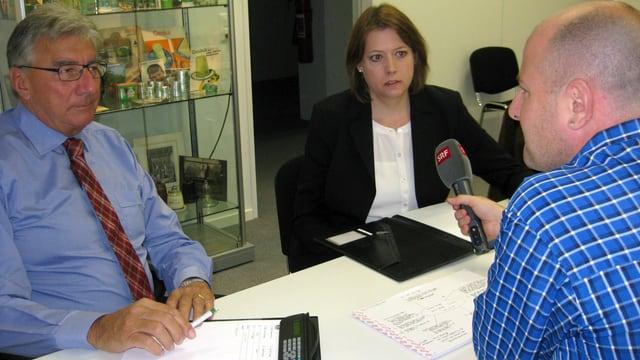 Johannes Trümpy und Sarah Trümpy im Gespräch